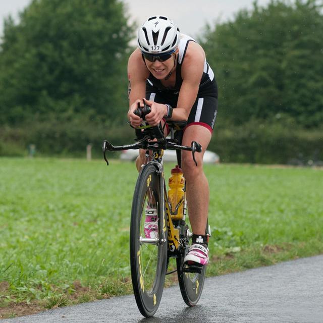 Monika Keunecke beim Ironman in Maastricht