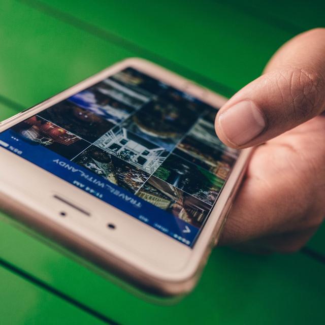 Instagramansicht auf einem Smartphone