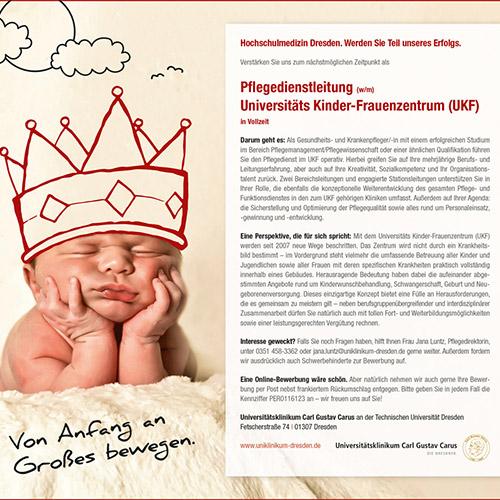 Anzeige Pflegedienstleistung Carl Gustav Carus