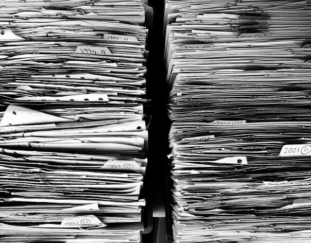 Papierstabel Bewerbungen