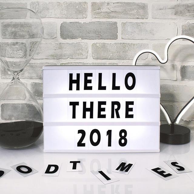 Schriftzug Hello there 2018
