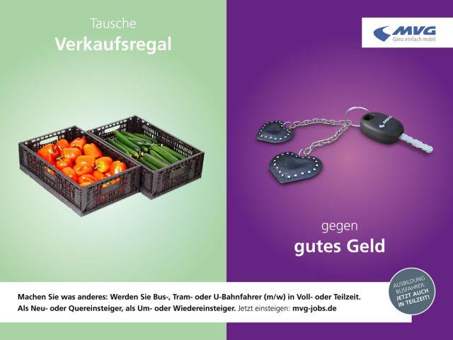 Plakat aus der Zielgruppenkampagne der MVG
