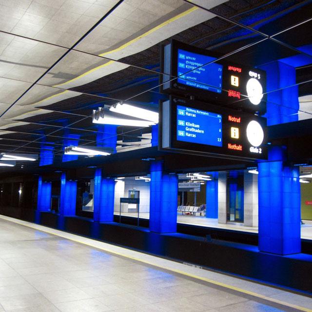Ansicht U-Bahn-Station München