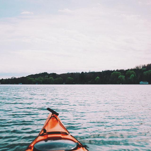 Perspektive auf einen See