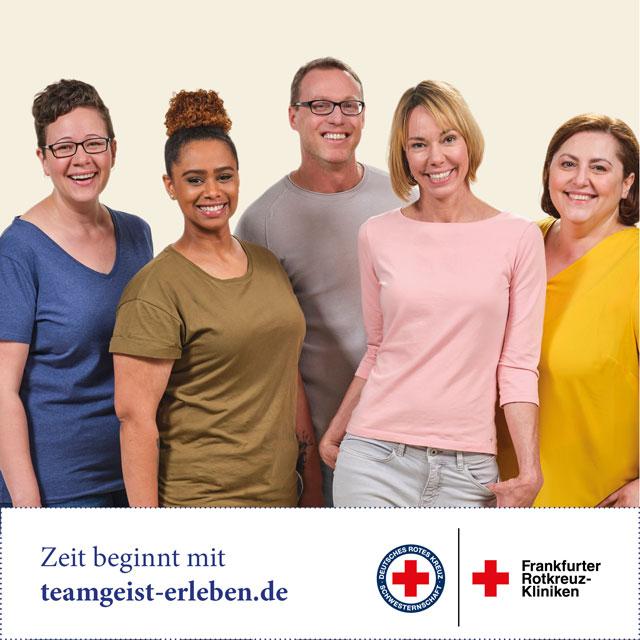 Gruppenbild zur Kampagne der Frankfurter Rotkreuz-Kliniken