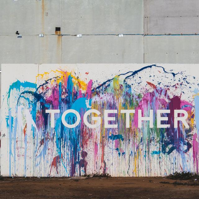 Grafitti mit Schriftzug Together