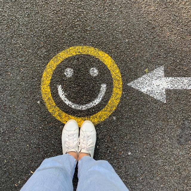 Smiley als Graffiti